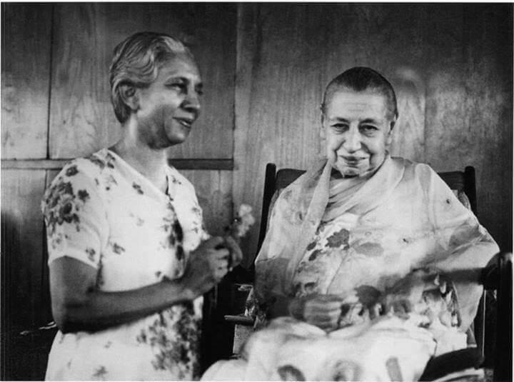 श्रीअरविंद आश्रम की श्री माँ और वसुधा