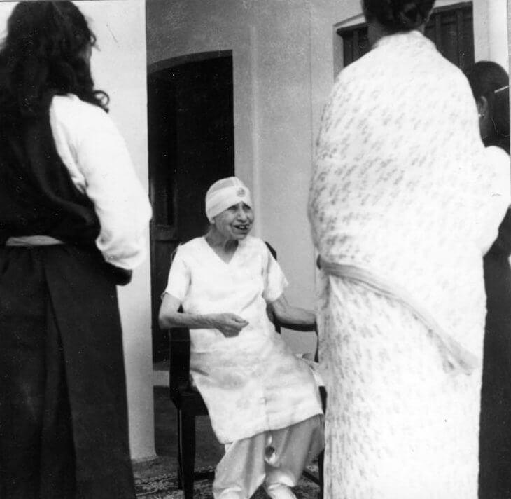 श्रीअरविंद आश्रम की श्री माँ का चित्र